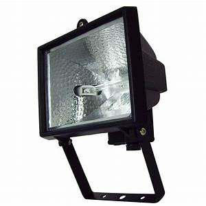Brilliant w black ascot halogen flood light