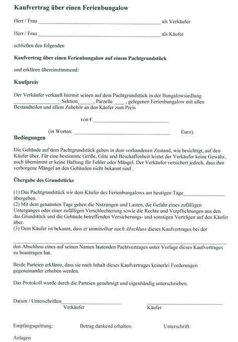 Kaufvertrag Garage Auf Pachtgrundstück by Kaufvertrag Haus Muster Kaufvertrag Wohnungseinrichtung
