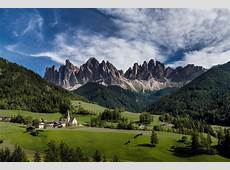 italy south tyrol val di funes sky clouds church temple