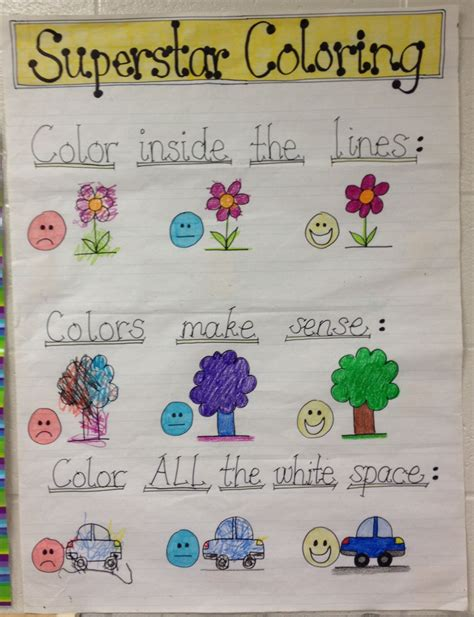 coloring rubric wall poster art   elementary