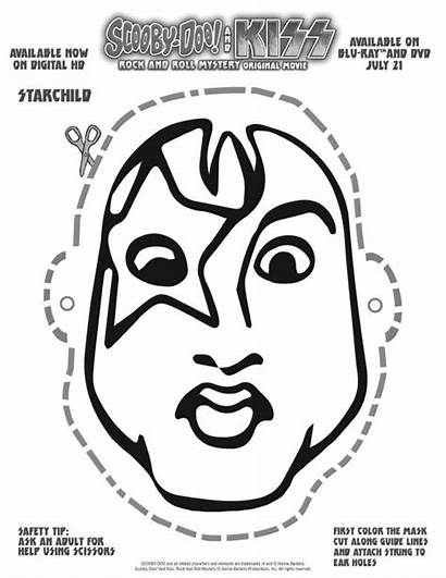 Doo Scooby Starchild Kiss Printable Mask Coloring