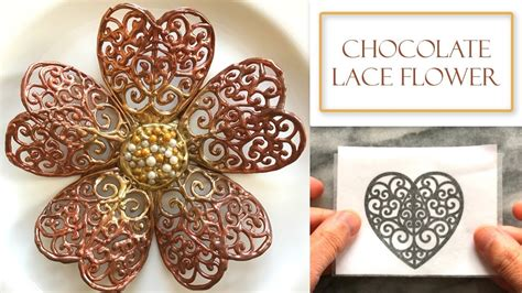 Chocolate Lace Template How To Make A Chocolate Lace Flower Chocolate