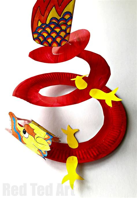 paper plate twirler ted 480 | Chinese New Year twirler