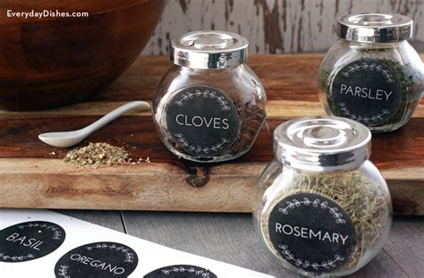 Spice Rack Stickers by Spice Jar Labels Printable