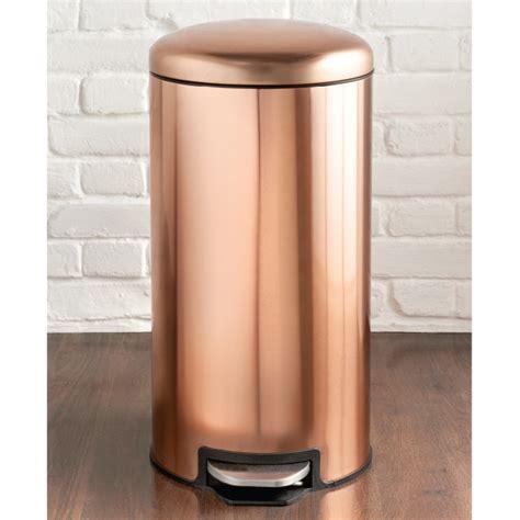 Copper Pedal Bin 30L   Household Essentials   B&M