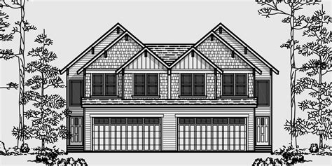 one house plans with two master suites craftsman duplex house plans luxury townhouse plans 2