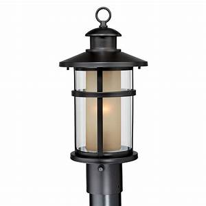 cascadia lighting cadiz 1 light outdoor post light lowe With outdoor pole lights at lowes