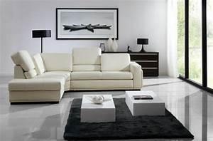 Le canape d39angle en cuir 60 idees d39amenagement for Tapis de yoga avec rénover un canapé en cuir beige