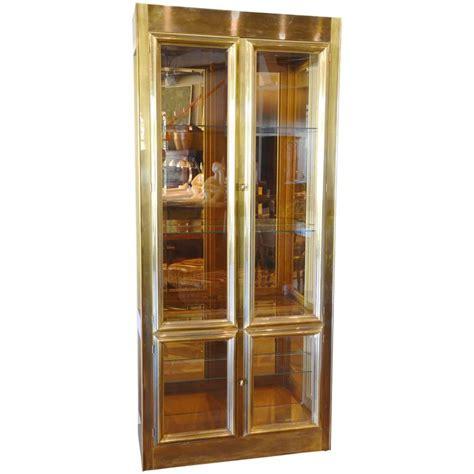 mastercraft oak cabinet doors mastercraft brass vitrine for sale at 1stdibs