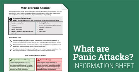 panic attack info sheet worksheet therapist aid