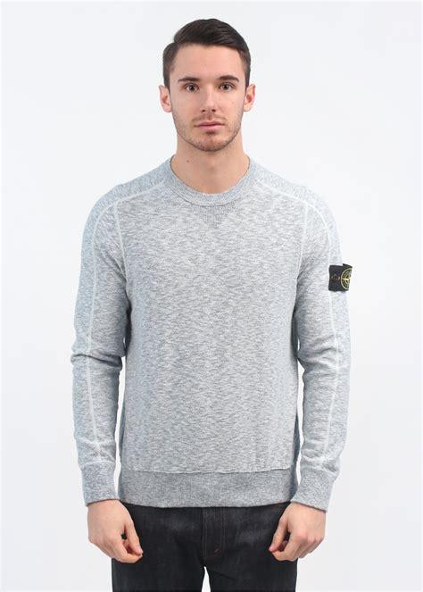 light blue crew neck sweatshirt stone island maglie crew neck sweater light blue