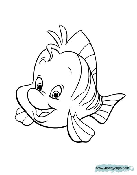 mermaid printable coloring pages disney