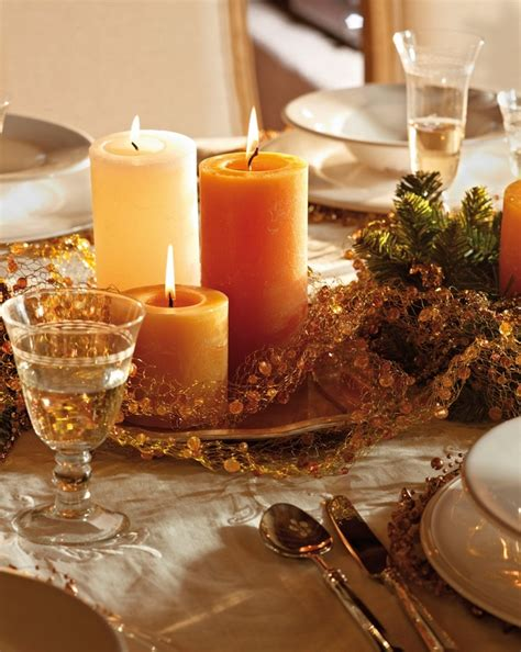 candles for christmas table 40 ideas for christmas candles on table