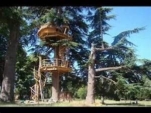 Cabane Dans Les Arbres Construction : construire une cabane dans les arbres vid o sur un arbre perch youtube ~ Mglfilm.com Idées de Décoration