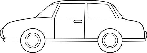 cartoon car black and white colorable car line art free clip art