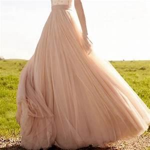 Blush wedding petticoats overly soft tulle full length for Full length slip for wedding dress