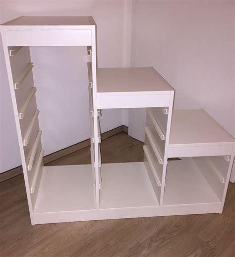 Ikea Trofast  Stufenregal  Weiß Mit Kisten Möglich