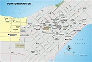 Downtown Madison travel map from Moon Milwaukee and ...