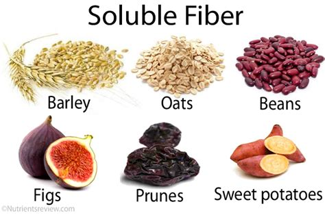 list  foods highlow  fiber types health benefits