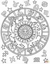 Coloring Signs Pages Astrological Printable Sheets Zodiac Star Adult Animals Mandala Supercoloring Drawing Patterns Pattern sketch template