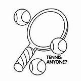 Tennis Coloring Racket Printable Pages Rackets Balls Sheets Wimbledon Colouring Sports Ball Printables Getdrawings sketch template