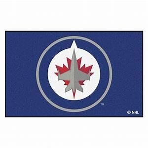 FANMATS NHL Winnipeg Jets Navy 5 ft x 8 ft Area Rug