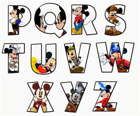 6 best images of mickey mouse letters alphabet mickey alfabeto de mickey oh my alfabetos 38896