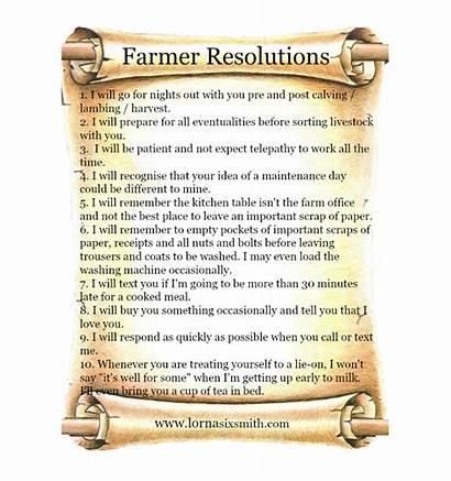 Resolutions Farmers Farm Farmer Wives Gifts Lorna