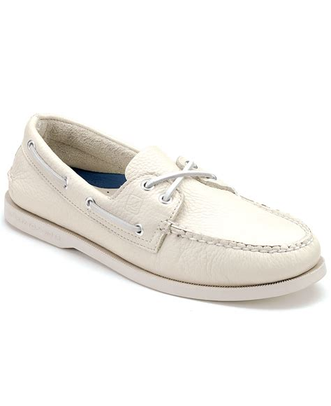 White Sperry Boat Shoes by Sperry Top Sider S Authentic Original A O Boat Shoes