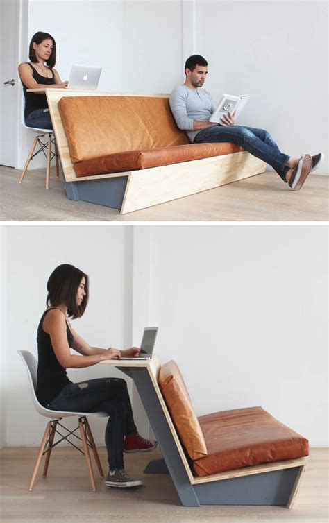 diy modern couch   doubles   desk