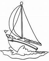 Boat Coloring Sailboat Pages Sailing Drawing Boats Colouring Printable Transportation Easy Sail Drawings Nautical Yacht Speed Cartoon Ship Sailboats Cars sketch template