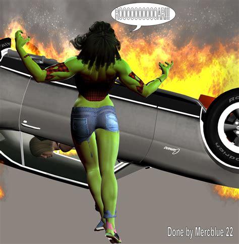 Tiffani Becomes She Hulk 7b By Mercblue22 On Deviantart