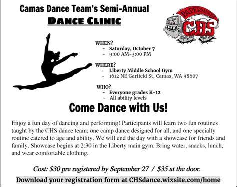 chs dance clinic camas high school