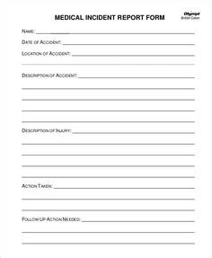 incident report form template  school sign