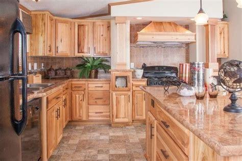 hickory cabinets  dark countertops ideas