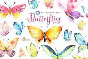 Butterflies Watercolor Set ~ Illustrations ~ Creative Market