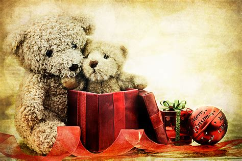 teddy bear christmas photograph by stephanie frey