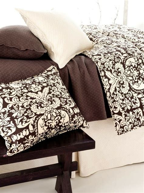 Chocolate Brown Duvet Covers by Chocolate Brown Ivory Duvet Cover Pine Cone Hill