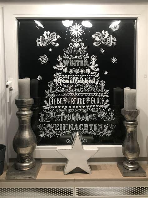 Vorlagen Fensterdeko Weihnachten Kreidestift by Fensterdeko Mit Kreidestift Vorlage Bine Br 228 Ndle