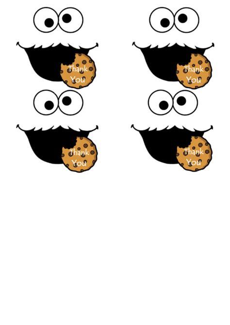 cookie monster   template printable