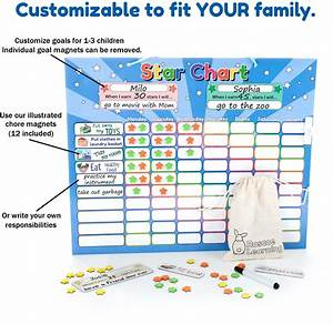Roscoe Learning Responsibility Star Chart Customize For