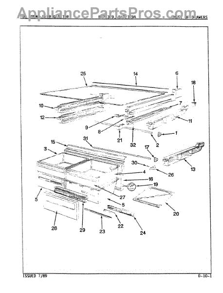 Chest Of Drawers Repair Parts by Parts For Maytag Bnt23k9 9a41a Chest Of Drawers Parts