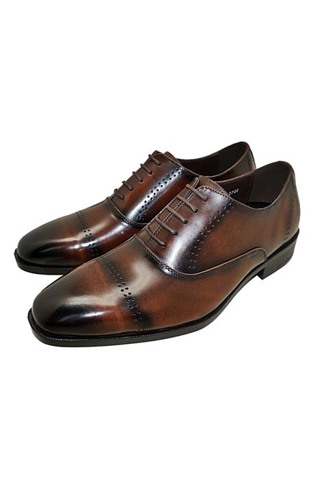 Cowhide Leather Shoes by Brown Genuine Cowhide Leather Oxfords Dress Shoes For