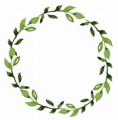 Greenery Wreath Clipart Watercolor Minimalist