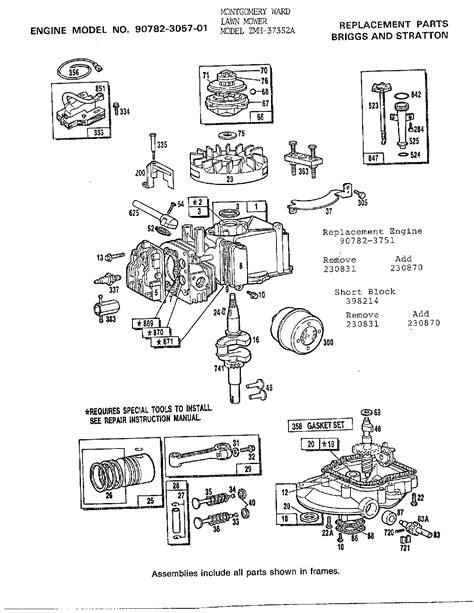 Murray Mower Carburetor Diagram by Replacement Carburetor 492498 For Murray Lawn Garden