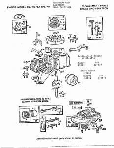 Murray Model 37352a Walk Behind Lawnmower  Gas Genuine Parts