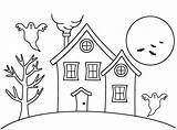 Coloring Haunted Cartoon Pages Popular sketch template