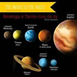 Planet names in Māori | learn māori. | Pinterest | Planets ...