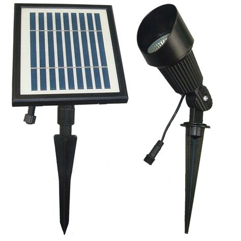 solar goes green solar powered black outdoor spotlight