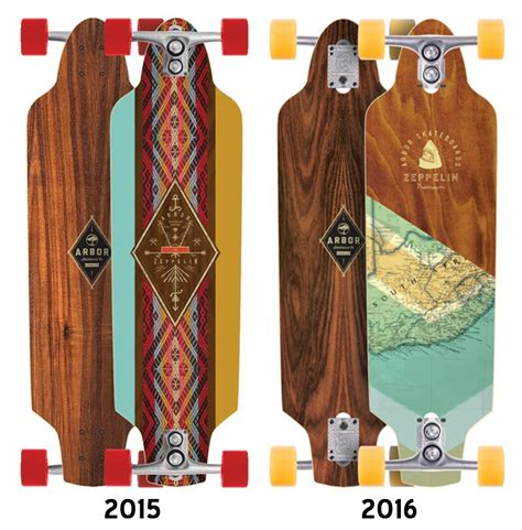 arbor zeppelin maple longboard deck deck only boards